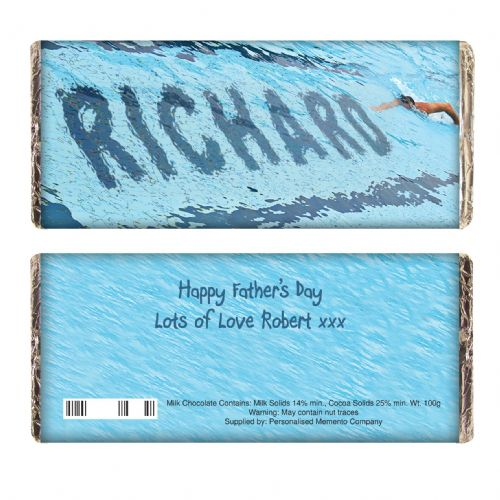 Personalised Swimmer Chocolate Bar